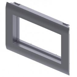 Adaptador de mecanismos Simon Connect Cima color aluminio para canal Unex 65 en pvc