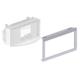 Adaptador mecanismos Rail DIN color aluminio para canal Unex 65 en pvc