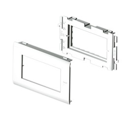 Adaptador 4 módulos Única color aluminio para canal Unex 65 en pvc