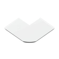 Ángulo exterior burlete suelo blanco para canal Unex 50 en pvc
