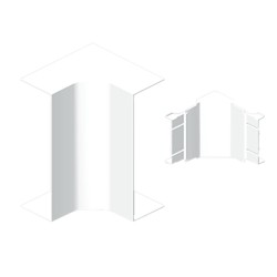 Ángulo interior blanco para canal Unex 50x80 en pvc