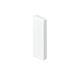 Tapa final blanco para canal Unex 50x80 en pvc