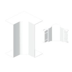 Ángulo interior blanco para canal Unex 50x130 en pvc