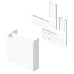 Ángulo plano canal 3 tapas blanco para canal Unex 50x170 en pvc