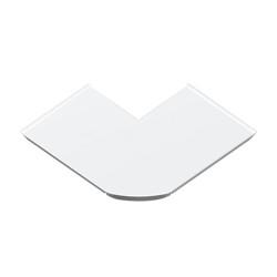 Ángulo exterior burlete suelo blanco para canal Unex 70 en pvc