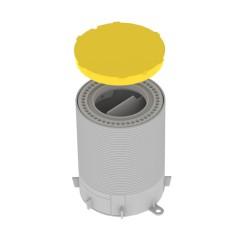 Caja de conexiones para suelo gris en pvc