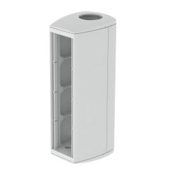 Ampliación vertical módulo 4 mecanismos gris Unex 65 en pvc