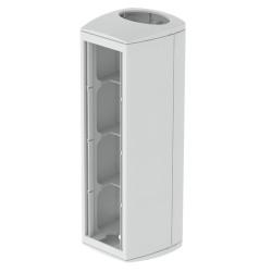 Ampliación vertical módulo 4 mecanismos gris Unex 80 en pvc