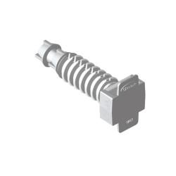 Taco para brida a presión gris Unex 8 libre halogeno