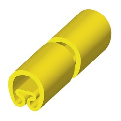 Manguito en metros amarillo 8x1000 PVC plastificado 1852-MT
