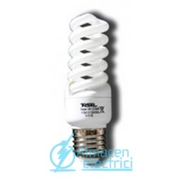 Lámpara Bajo Consumo Espiral Luz Día Tubo 7mm E27 15w Lumen 825 tono 6400k