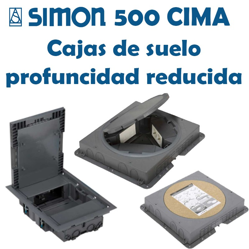 SIMON 500 CIMA CAJA SUELO PROFUNDIDAD REDUCIDA