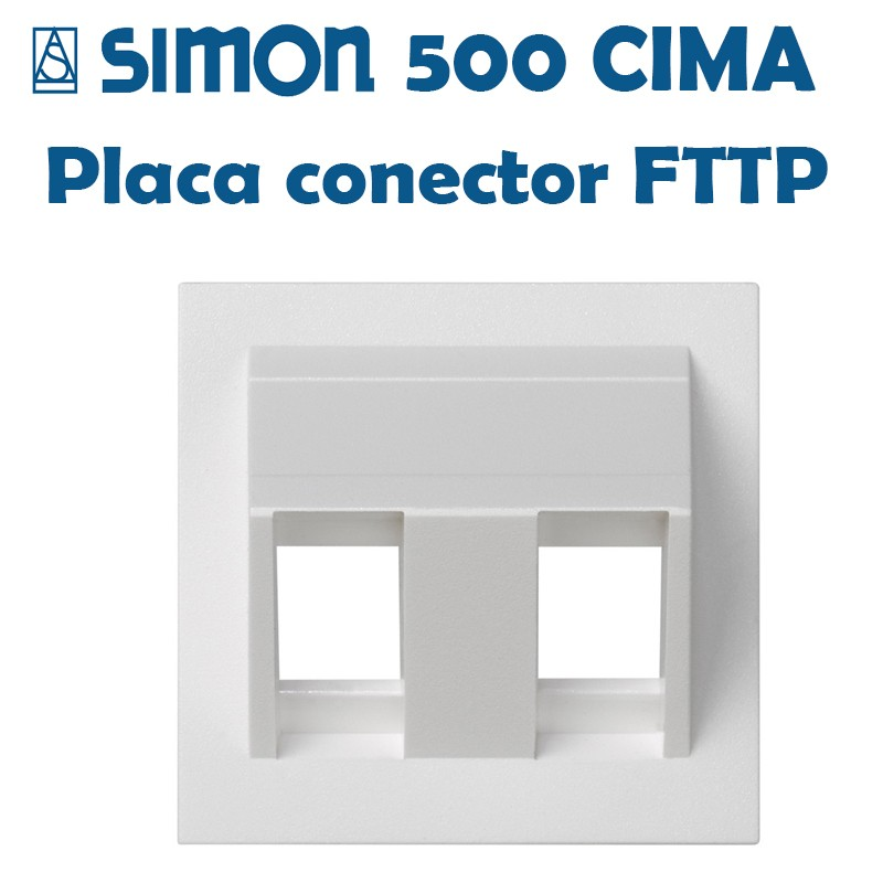 SIMON 500 CIMA PLACAS PARA CONECTORES FIBRA ÓPTICA
