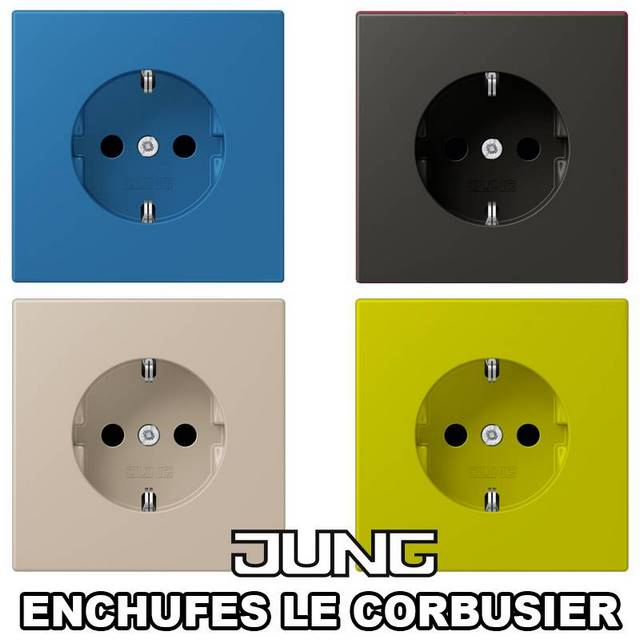 ENCHUFE JUNG LE CORBUSIER