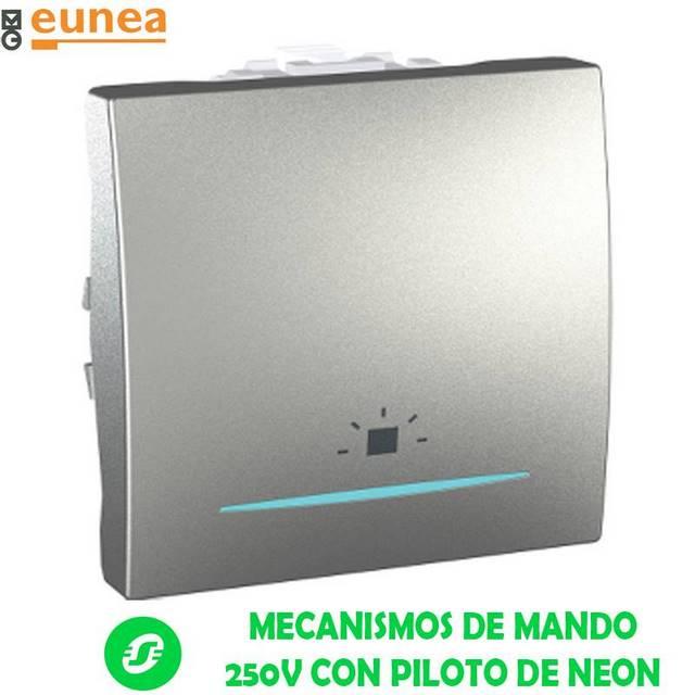 MECANISMOS DE MANDO 250V CON PILOTO DE NEON