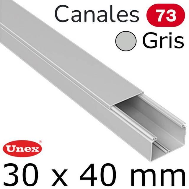 UNEX 73 CANAL 30X40 GRIS