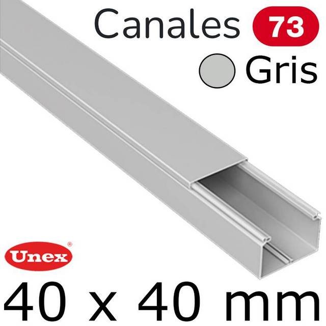 UNEX 73 CANAL 40X40 GRIS