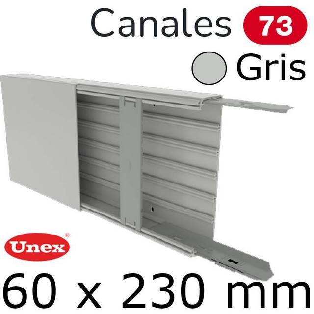 UNEX 73 CANAL 60X230 GRIS