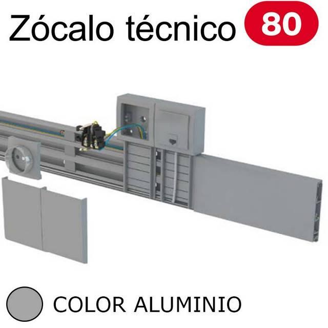 UNEX 80 ZOCALO ALUMINIO