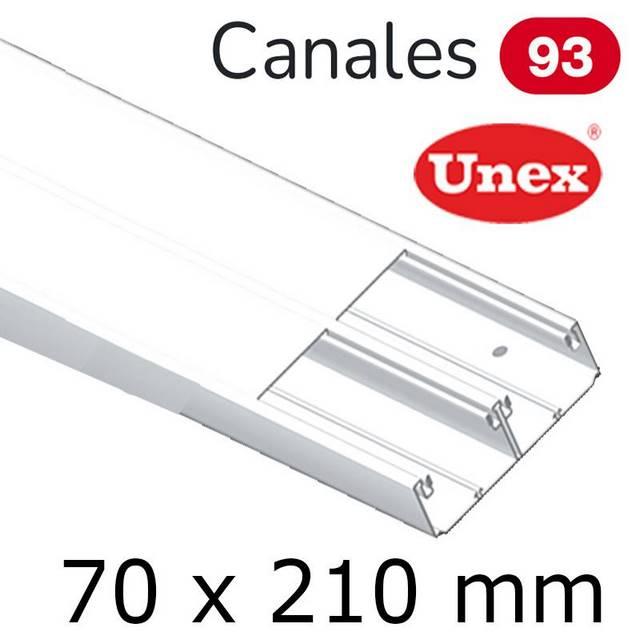 UNEX 93 CANAL 70X210 BLANCO