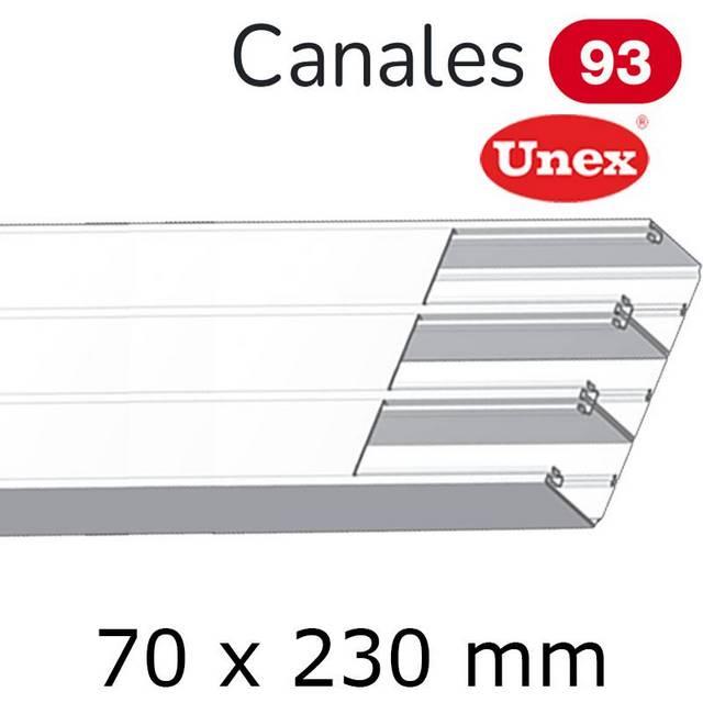 UNEX 93 CANAL 70X230 BLANCO