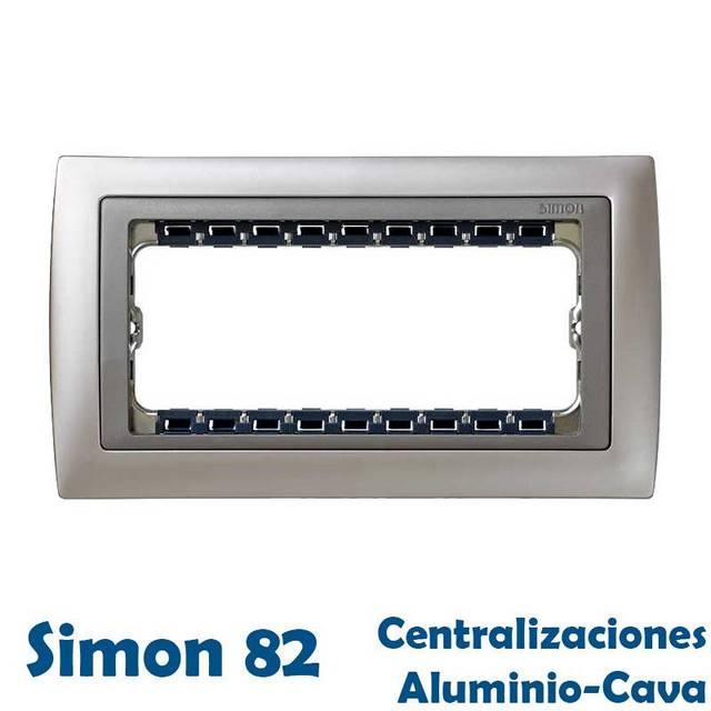 SIMON 82 CENTRALIZACIONES GAMA ALUMINIO Y CAVA