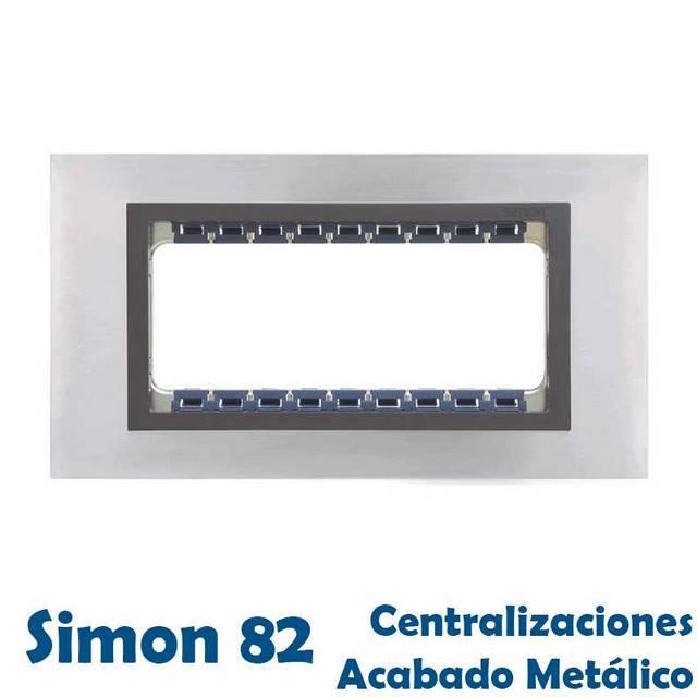 SIMON 82 CENTRALIZACIONES ACABADO METAL