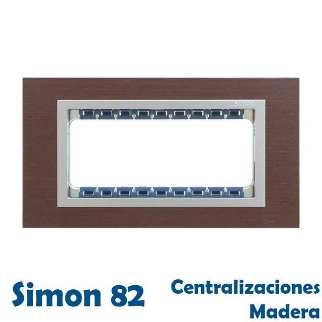 SIMON 82 CENTRALIZACIONES ACABADO MADERA